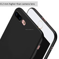 DFIFAN Ultra Thin Fully Black for iphone 7 plus 8 plus Case Black Simple Design Back Cover for iphone 7 8 Case