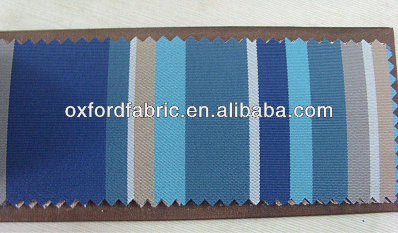 plyester blue stripe awning fabric waterproof canvas fabric for tent