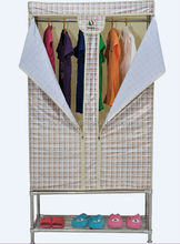 90cm Width Doulbe Zippers Folding Fabric wardrobe/ Cabinet More Rigid Structure