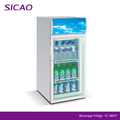 2017 promotion Beverage beer wine soft drink Showcase glass door refrigerator for supermarket hotel family