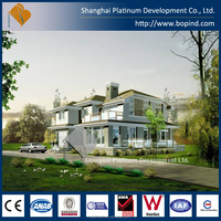 Cheap prefab steel villa with house plan