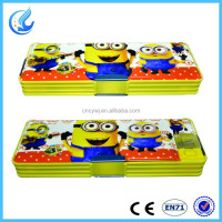 2016 very hot selling light & lamp pencil box/case with minion for kids