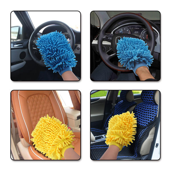 Perfect feedback from clients Simple appearance durable usage microfiber colored car wash mitt