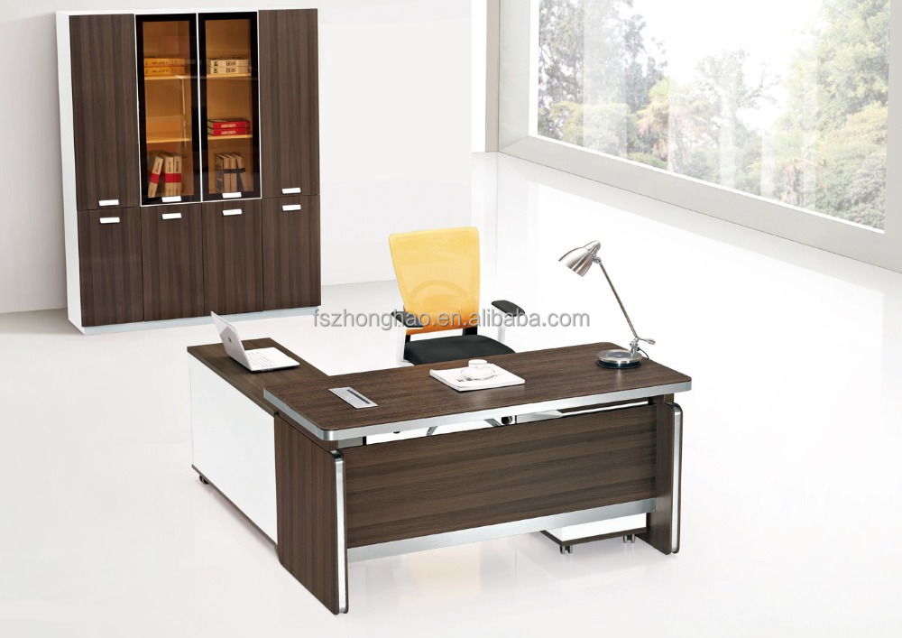 L shape office table manager office table design office for Table 0 manger