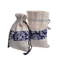 Wholesale coffee candy food cotton custom drawstring bags