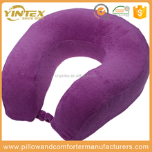 Memory Foam U Shape Neck Pillow Car Airplane Travel Pillow Neck Head Support Travel Home Office Cushion