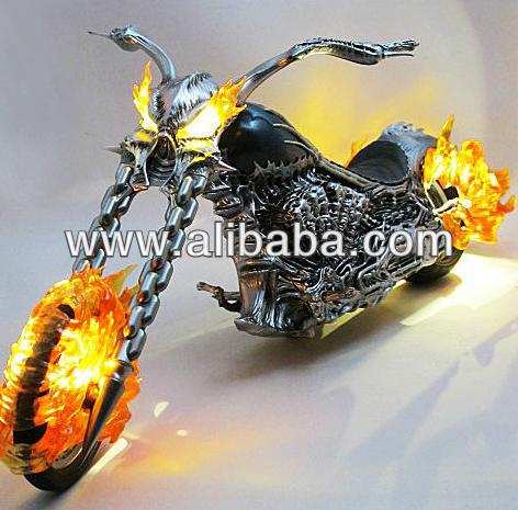 GHOST RIDER JOHNNY BLAZE Nicolas Cage HELLCYCLE BIKE LIGHT-UP NEW