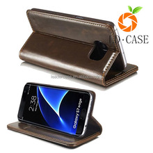 hot pouch leather case for samsung s6/Classic pouch mobile phone leather case for galaxy S7