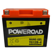 Poweroad Gel Motorcycle Rechargeable Lead Acid Battery