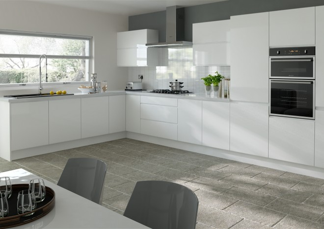 Contemporary Simple Modern L-shape Kitchen Cabinet Design Philippines