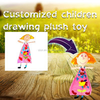 Factory customized plush educational children drawing toy