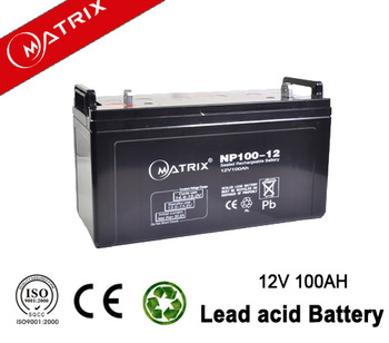 Solar maintenance free GEL battery 12V 100AH from China