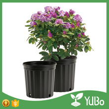 Hot sale wide black plastic tree pots, polyethylene big pot for garden and nursery planting