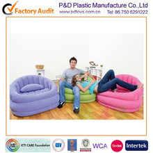 ASTM PVC air inflatable cheap corner sofa