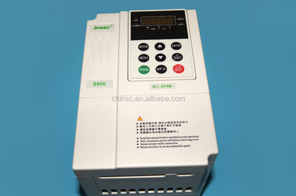 2016 China hot selling ac motor drive exhaust fan speed controller