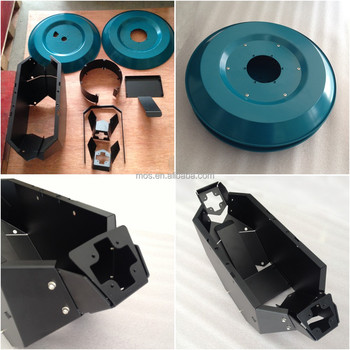Green Epoxy Powder Coated Galvanized Sheet Metal Spinning Parts for Machine Crust Shell