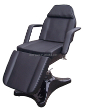 CE Extensible black hydraulic reclining laser tattoo bed with armrest