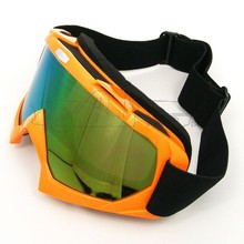 BJ-MG-001A Old Style Orange Spy Moto Riding Glasses Tinted Motorcycle Motocross Goggles