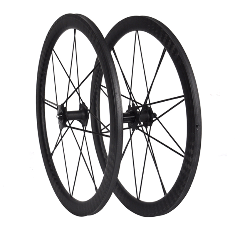 High - End Chinese DT350 hub 700C Clincher / Tubular Carbon Fiber Road Wheelset Carbon Spoke Wheels
