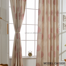 Rural style polyester blackout fabric window ready made curtain