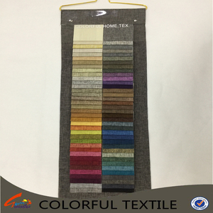 colorful textile 100% polyester plain style Linen fabric