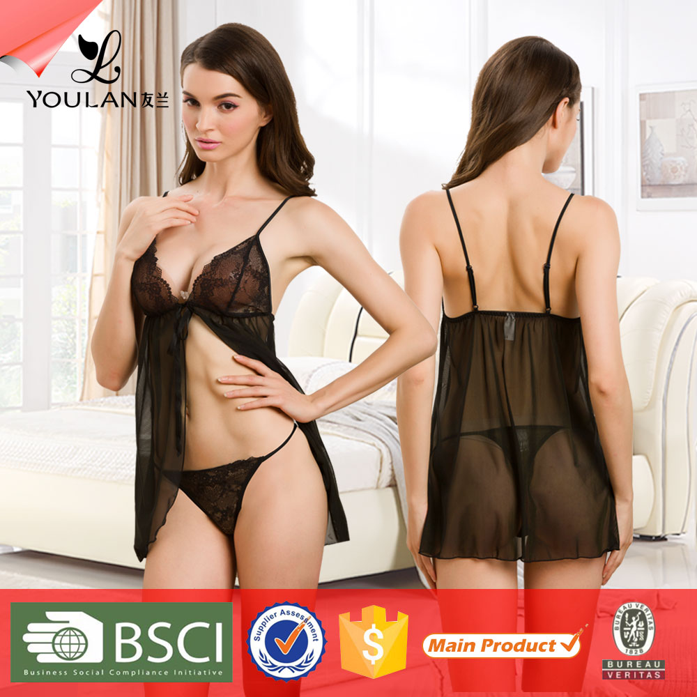 Fashionable Fitness Teen Lace Fishnet Sexy Nighties Lingerie