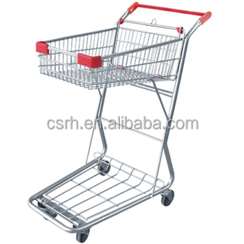 Factory direct sale RH-SD05 Double-deck durable shopping trolley