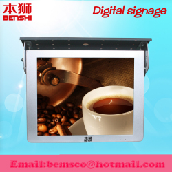 Wall mounted tft car lcd monitor with rolling txt