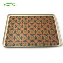 Eco bamboo fiber customer design serving tray
