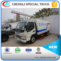 1500 liters(1.5m3) water tank and 4000 liters(4m3) garbage tank JAC 4*2 road sweeping truck mini highway sweepers