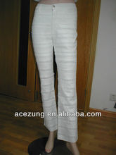 Stock Ladies fashion three quarter pants trousers pants designs for women---pictures of jeans pants Y2026R