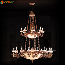 Hotel Antique Brass chandelier High quality big mosque ceramics chandelier