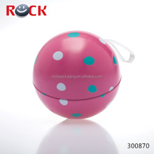 Gifts metal ball shaped tin can box