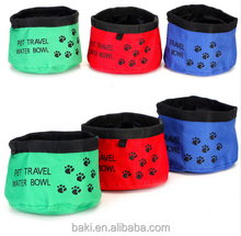 Oxford portable foldable pet bowl traveling food water bowl for pets pet feeder