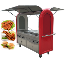 Burger equipment small mobile fast food cart burger stall