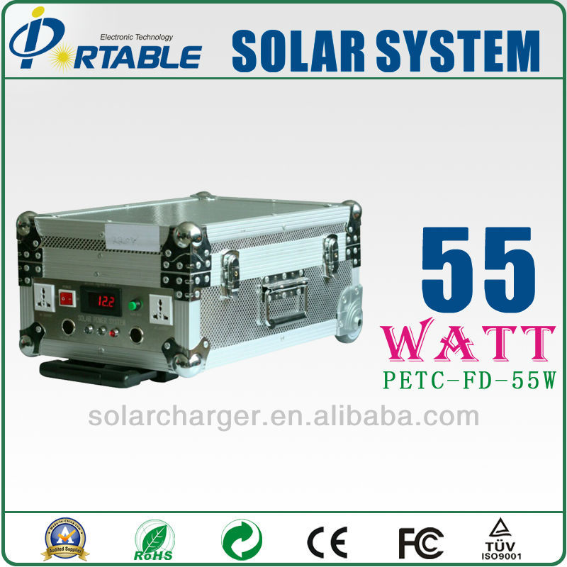Auotmatically solar energy charged home solar power kits with 12v 48Ah battery 4pcs 55W