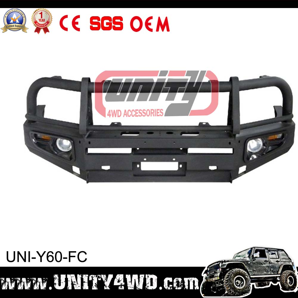 china supplier 4x4 front bumper patrol y60 part 4x4 off road accessories