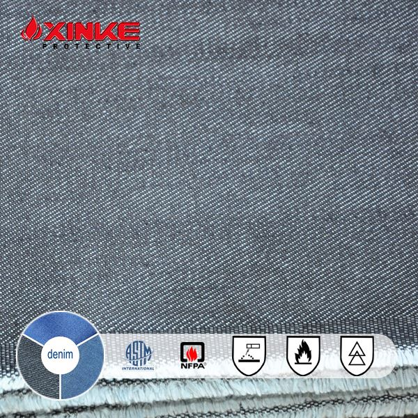 Ul certification300g fr cotton denim fabric for jeans China supplier