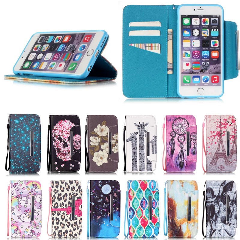 Flip Leather Mobile Phone Case For iPhone 5 5s Wallet Cover Cases for Apple iPhone 5/5s With Card Slot