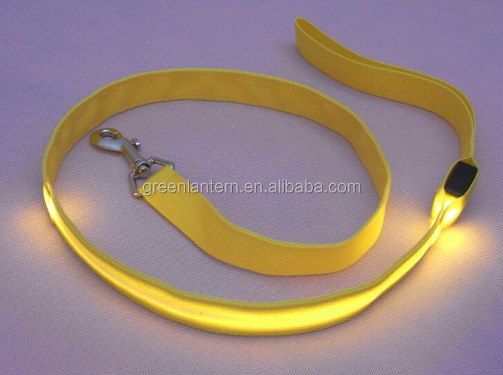 pet supplier Pet Products Blank Dog Leashes Nylon Led Light Dog Leashes