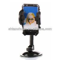 New design swivel car mobile phone holder,multi-function, fit for iphone 5 &4/4s car phone holder