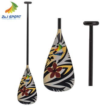 2018 New Carbon Outrigger Canoe Paddle With Customized Graphics on Blade