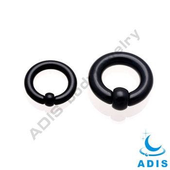 Black BCR Rings Segment Nose Piercing