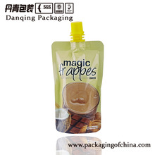 Coconut High Quality Plastic Material pouch with spout for beverage