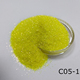 Yellow iridescent Film glitter powder for children shoes