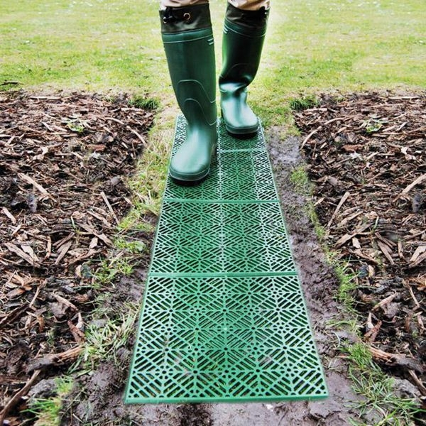 decorative diy garden tiles walkways