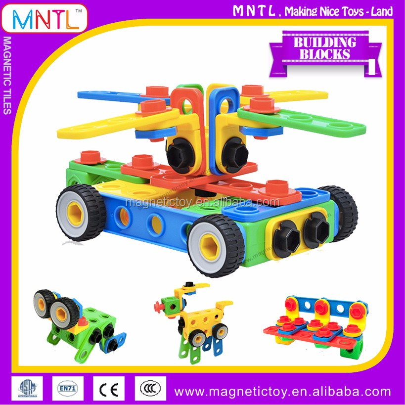 MNTL-340 Pieces Wholesale Educational Plastic Assembly Toys Large Children's Building Blocks On Promotion