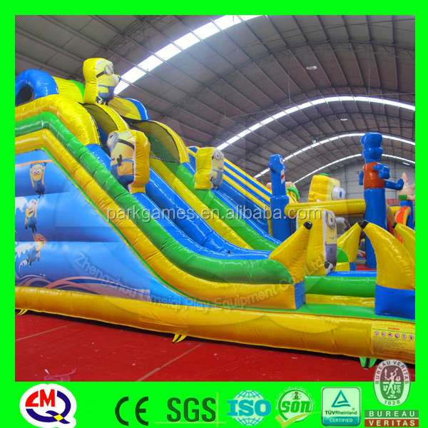 High quality plastic playground PVC material inflatable castle