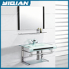 China Economical hand washing bathroom design wall mounted glass vessel basin & sink