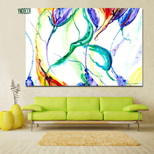Colorful Line Design Abstract Colour Mixture Canvas Art Print Painting Watercolour Fabric Decor Painting